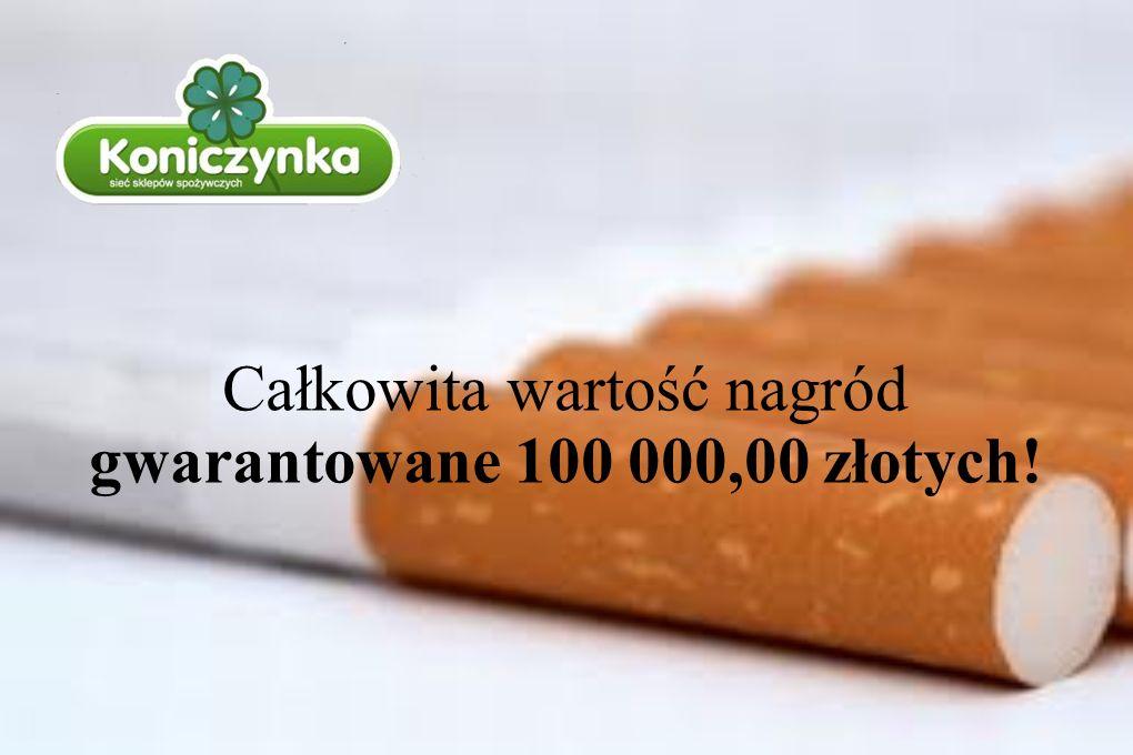 . Całkowita wartość nagród gwarantowane 100 000,00 złotych!
