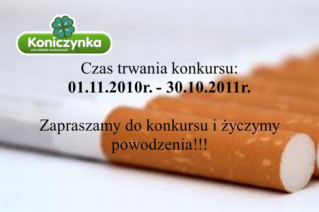 Czas trwania konkursu: 01.11.2010r. - 30.10.2011r. Zapraszamy do konkursu i życzymy powodzenia!!!
