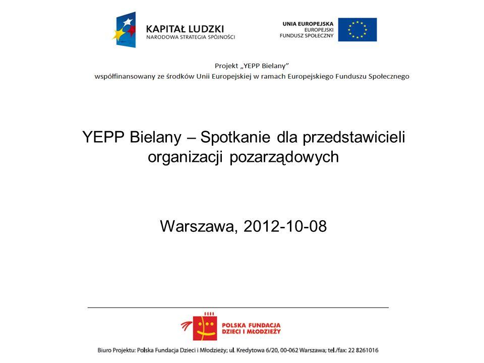 YEPP Bielany – Spotkanie dla przedstawicieli organizacji pozarządowych Warszawa, 2012-10-08