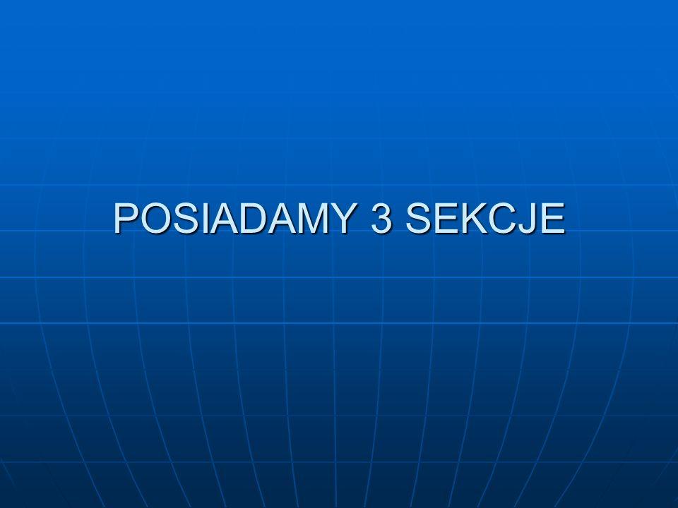 POSIADAMY 3 SEKCJE