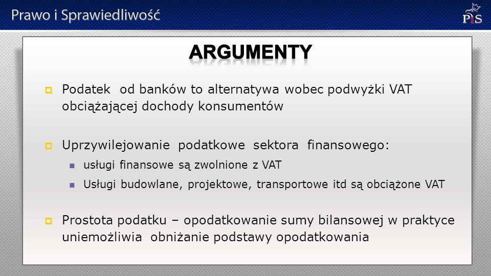 Podaliśmy argumenty za Jakie argumenty, obliczenia, opinie… …powodują, że rząd Donalda Tuska woli obciążyć wszystkich obywateli a nie banki ?