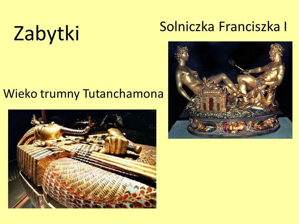 Zabytki Wieko trumny Tutanchamona Solniczka Franciszka I