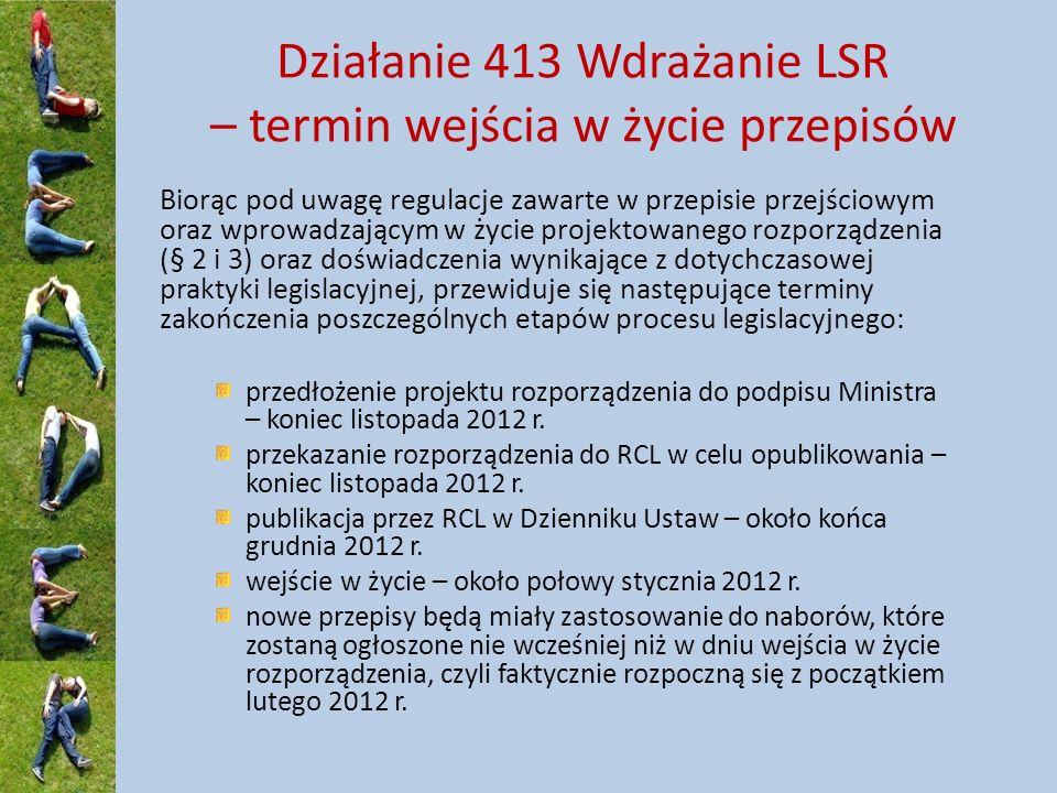 Biorąc pod uwagę regulacje zawarte w przepisie przejściowym oraz wprowadzającym w życie projektowanego rozporządzenia (§ 2 i 3) oraz doświadczenia wynikające z dotychczasowej praktyki legislacyjnej, przewiduje się następujące terminy zakończenia poszczególnych etapów procesu legislacyjnego: przedłożenie projektu rozporządzenia do podpisu Ministra – koniec listopada 2012 r.