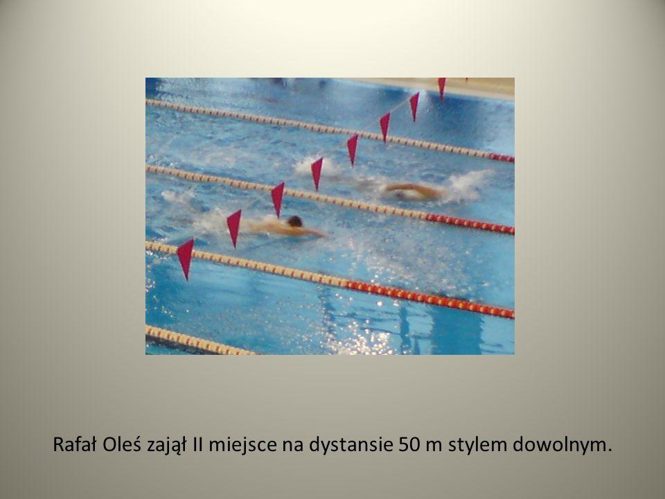 Rafał Oleś zajął II miejsce na dystansie 50 m stylem dowolnym.