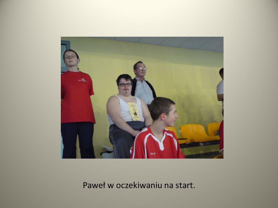 Paweł w oczekiwaniu na start.