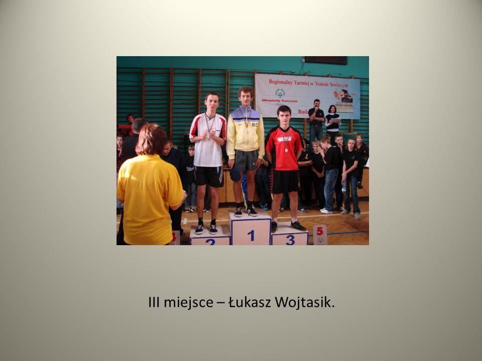 III miejsce – Łukasz Wojtasik.