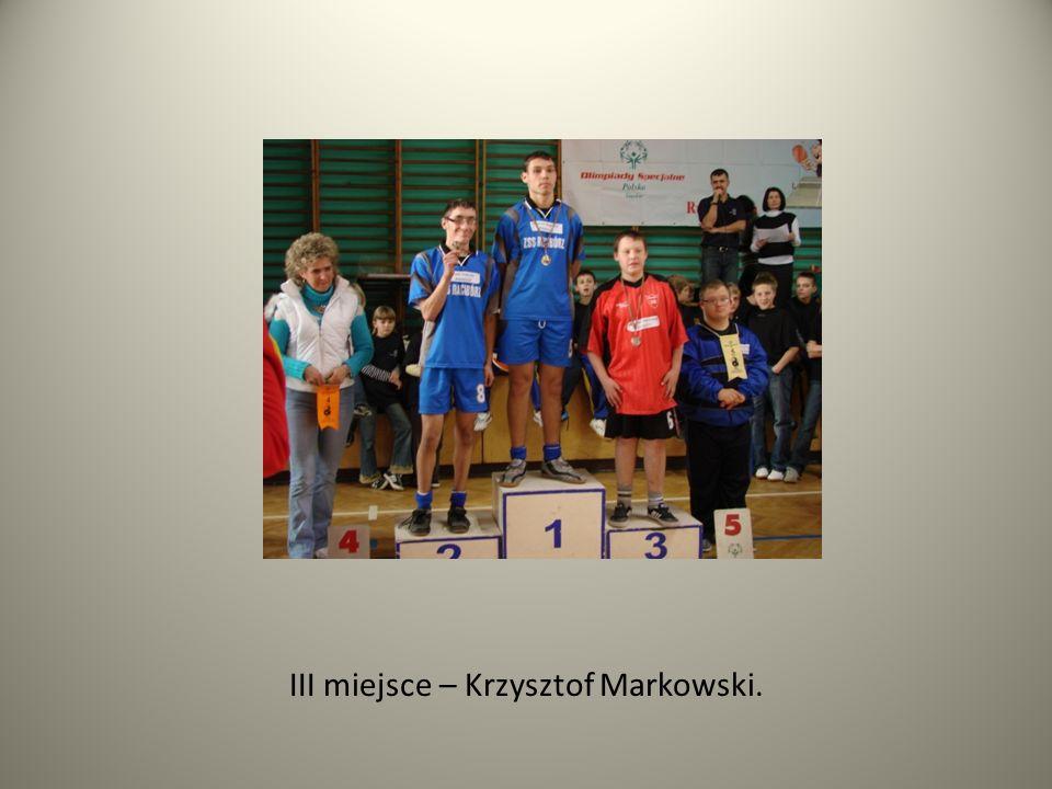 III miejsce – Krzysztof Markowski.