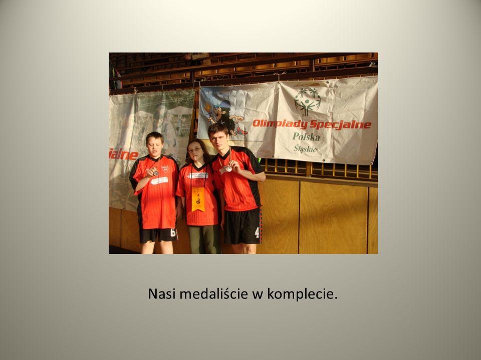 Nasi medaliście w komplecie.