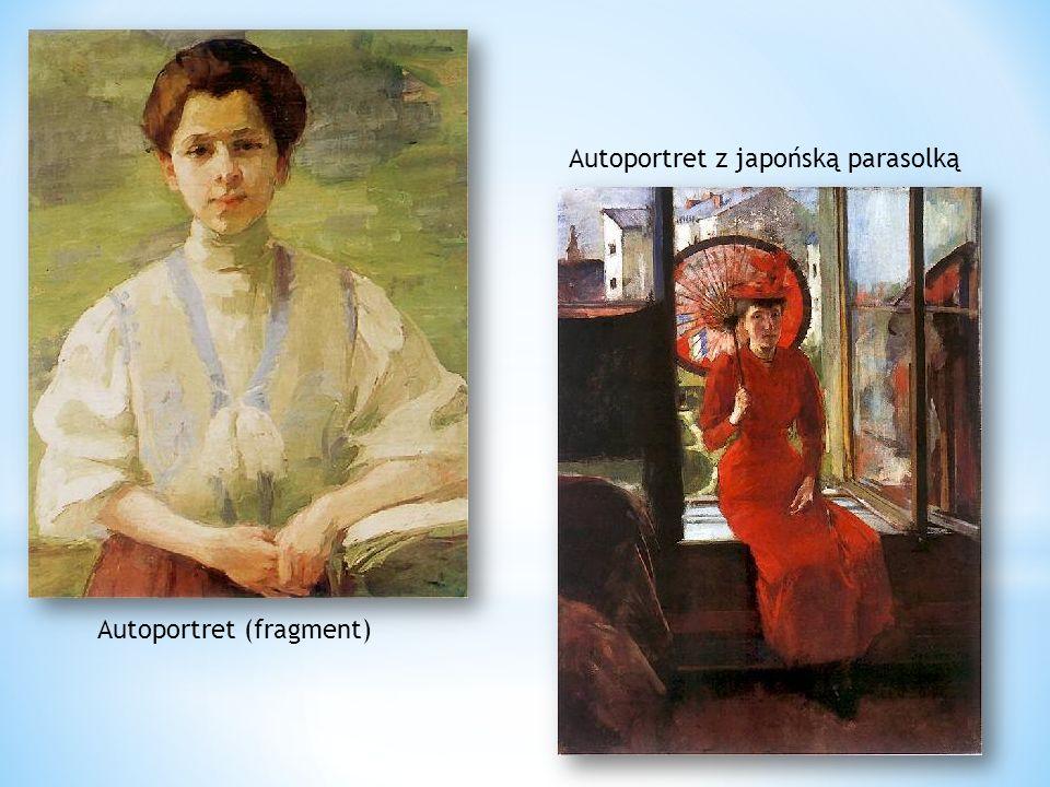 Autoportret (fragment) Autoportret z japońską parasolką