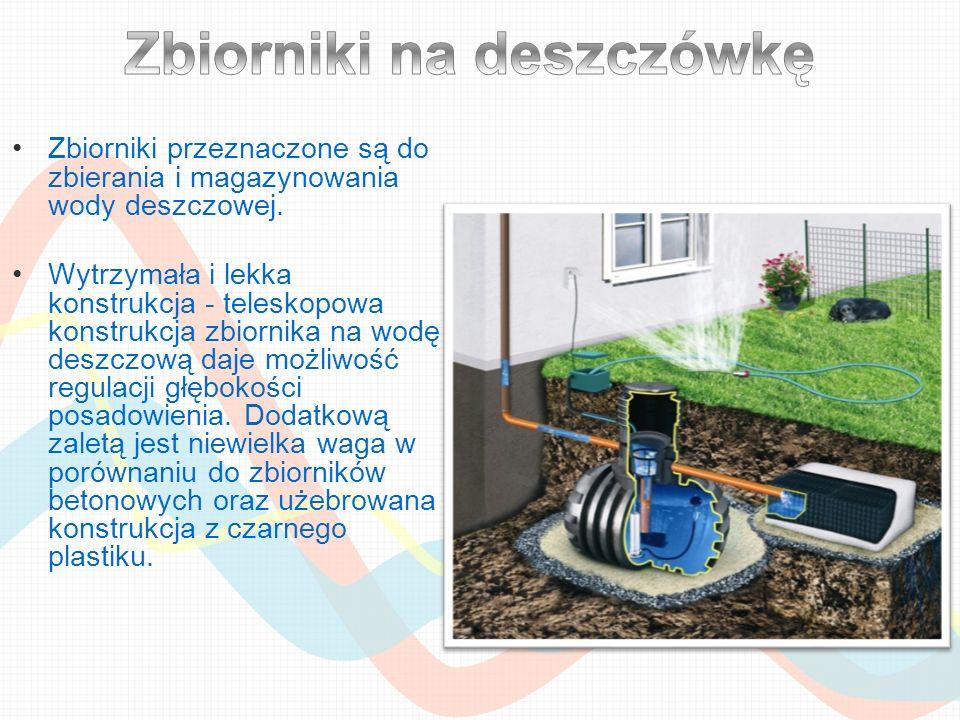 Zbiorniki przeznaczone są do zbierania i magazynowania wody deszczowej. Wytrzymała i lekka konstrukcja - teleskopowa konstrukcja zbiornika na wodę des