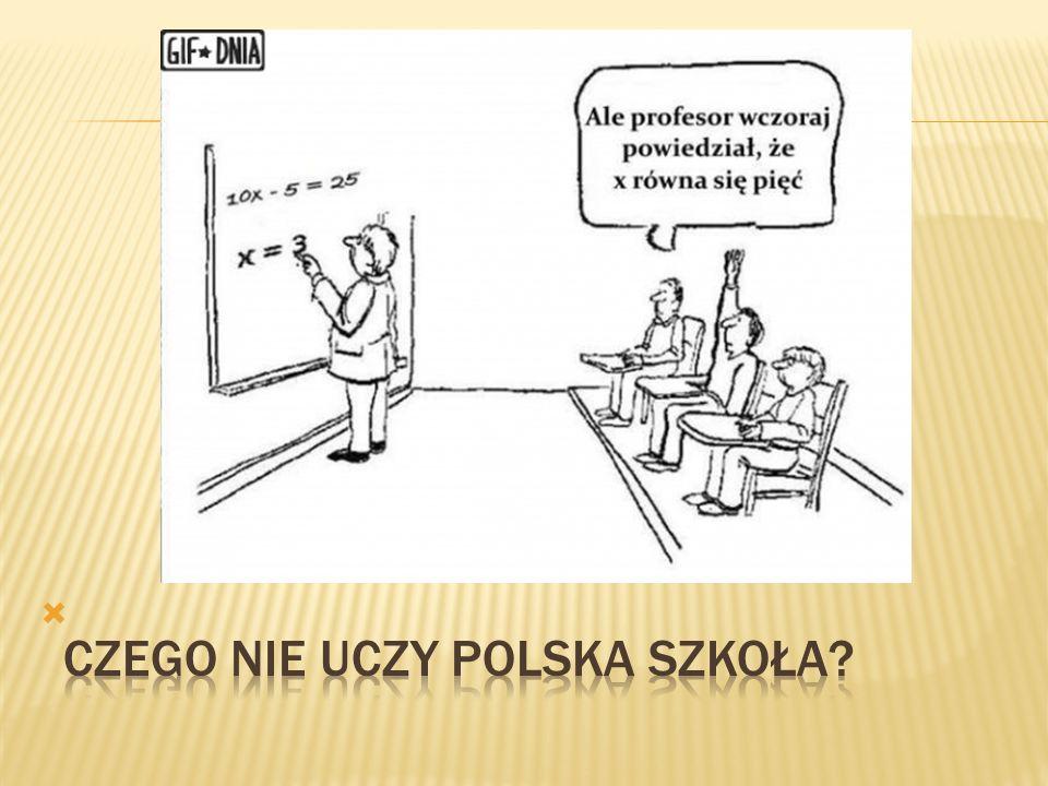 Osiągnięcia przyrodnicze polskich trzecioklasistów (TIMSS) KrajŚrednia ogólna Zastosowania typowe Zastosowania problemowe Singapur570590597 Czechy551534516 Węgry547530525 Anglia529532526 Niemcy524533526 POLSKA500514487