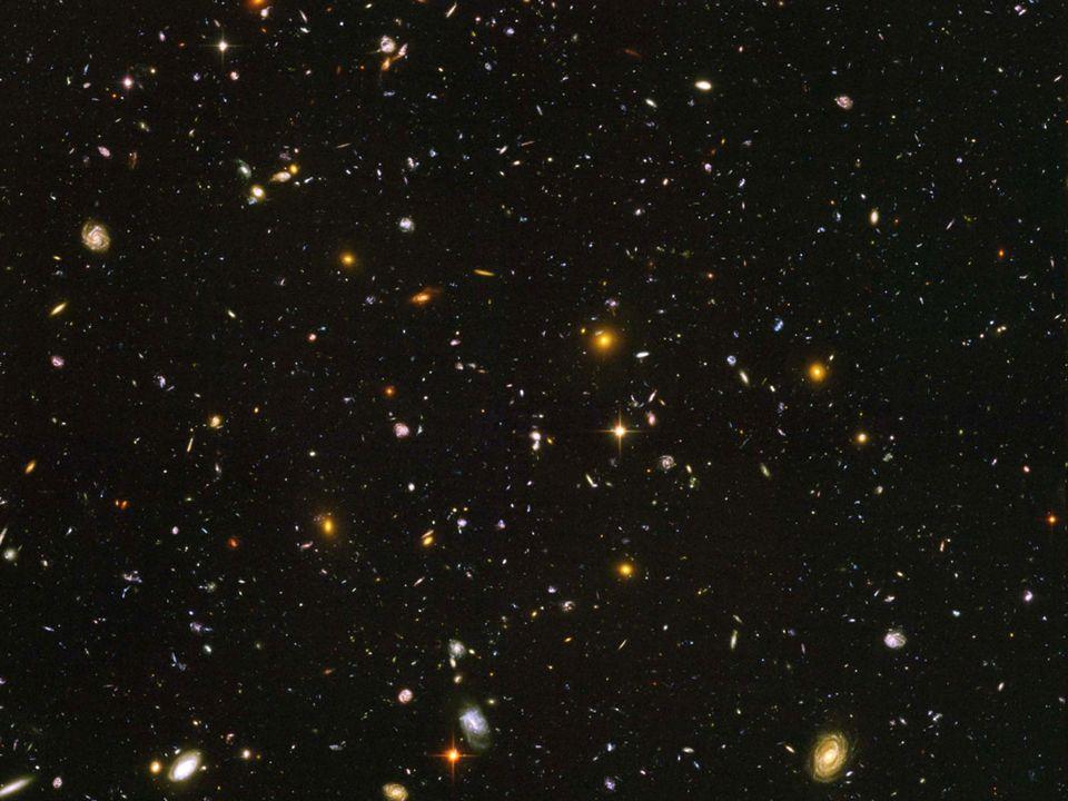 Średnia gęstość we Wszechświecie Cały Wszechświat składa się z ogromnej liczby gwiazd, planet i innych obiektów. Mają one różne gęstości. Od ekstremal