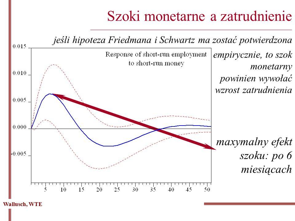 Szoki monetarne a zatrudnienie __________________________________________________________________________________ jeśli hipoteza Friedmana i Schwartz