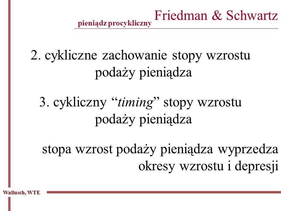 Friedman & Schwartz _______________________________________________________________________________________ 2. cykliczne zachowanie stopy wzrostu poda