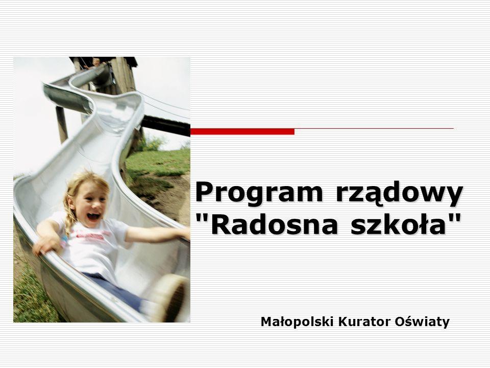 Program rządowy Radosna szkoła Małopolski Kurator Oświaty
