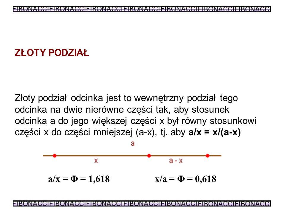 W ten sposób Fibonacci odkrył ciąg, w którym każdy kolejny jego wyraz, jest sumą dwóch poprzednich.