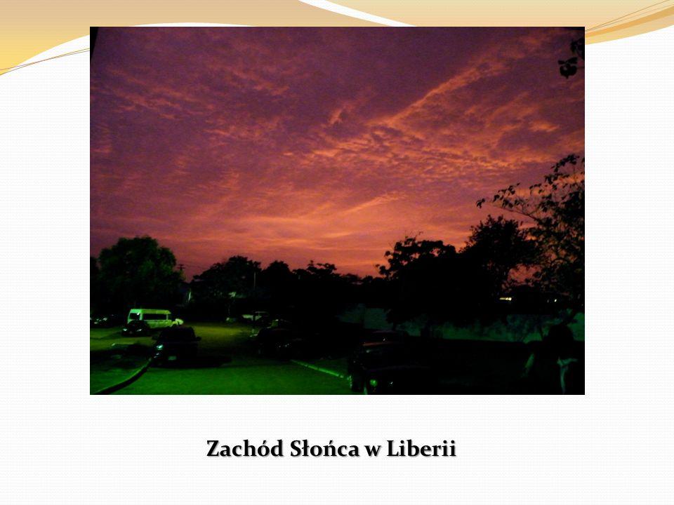 Zachód Słońca w Liberii