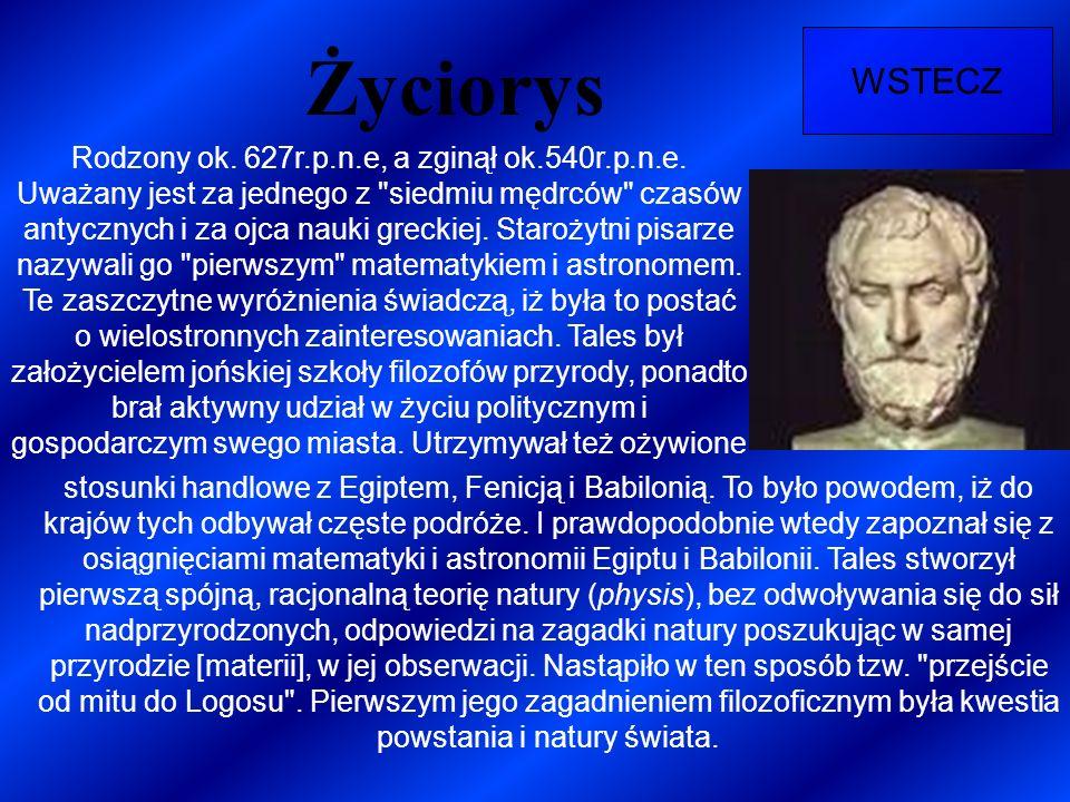 Życiorys WSTECZ Rodzony ok. 627r.p.n.e, a zginął ok.540r.p.n.e. Uważany jest za jednego z