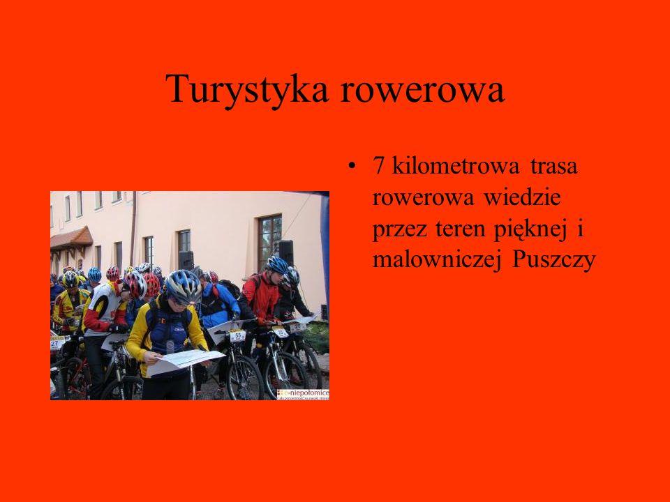 Turystyka rowerowa 7 kilometrowa trasa rowerowa wiedzie przez teren pięknej i malowniczej Puszczy