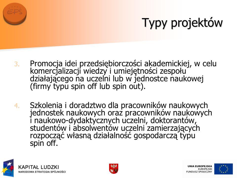 Typy projektów 3. 3.