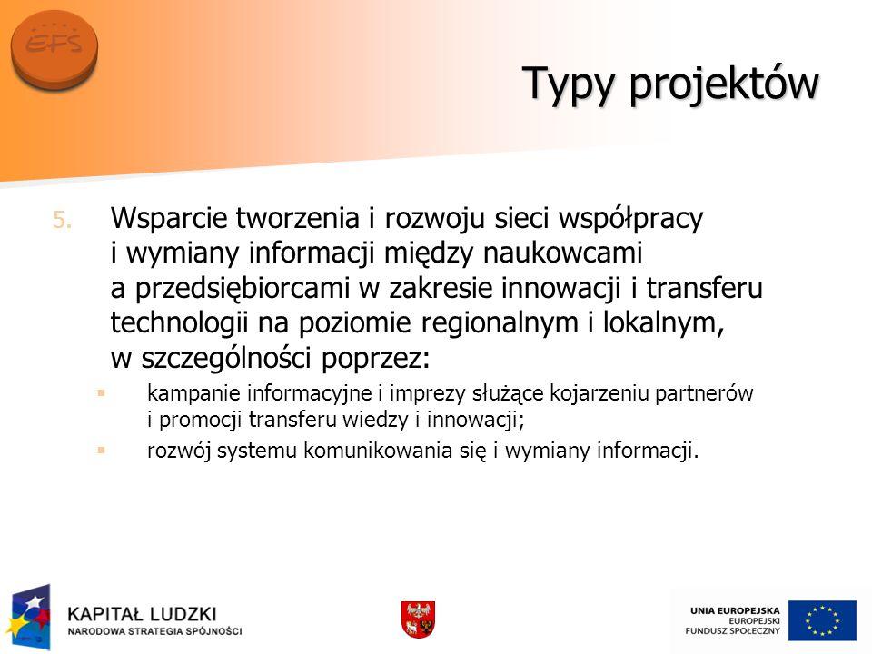 Typy projektów 5. 5.