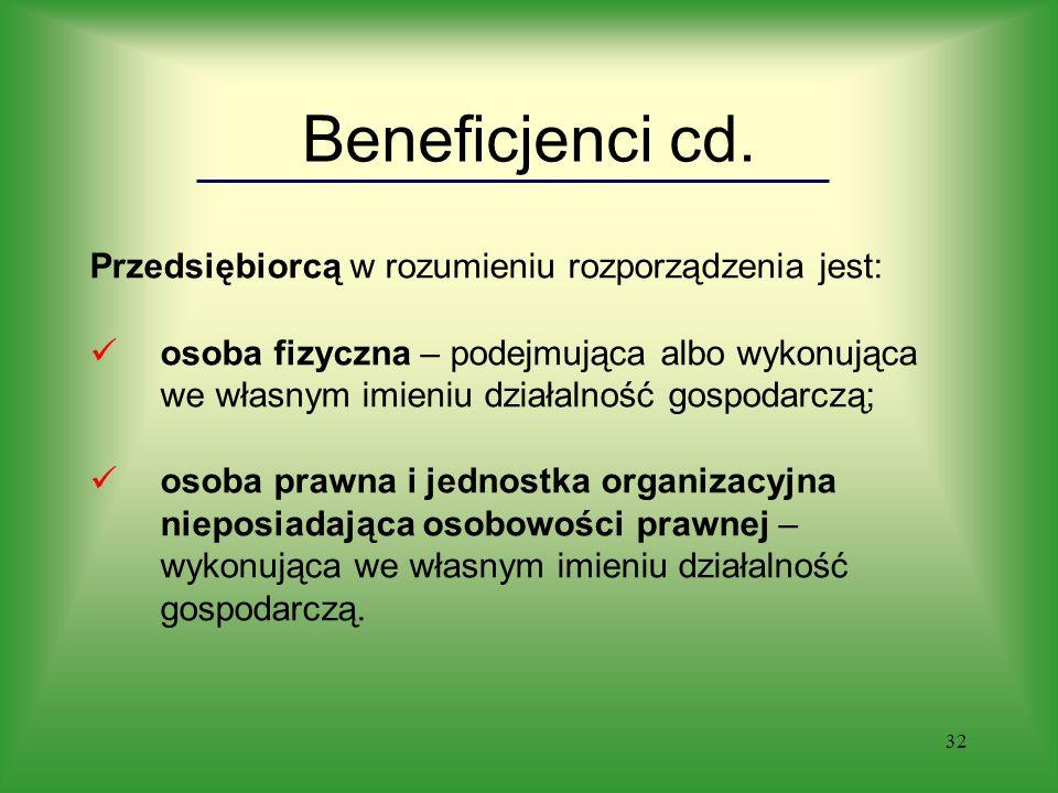 32 Beneficjenci cd.