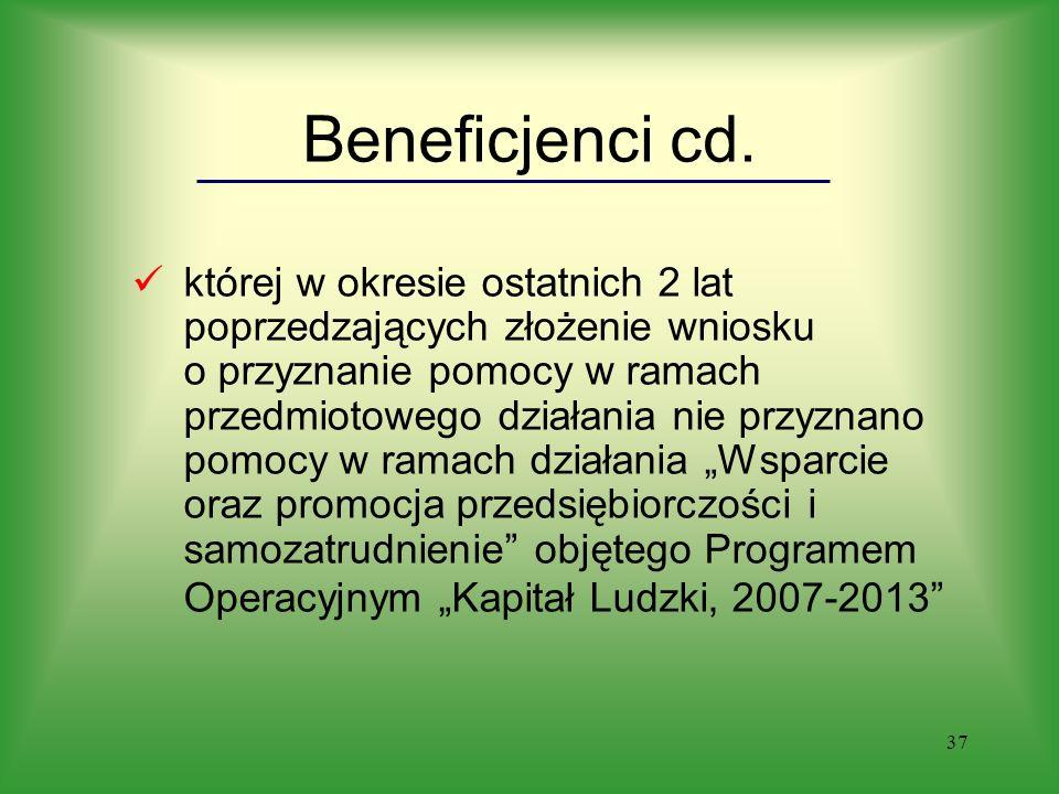 37 Beneficjenci cd.
