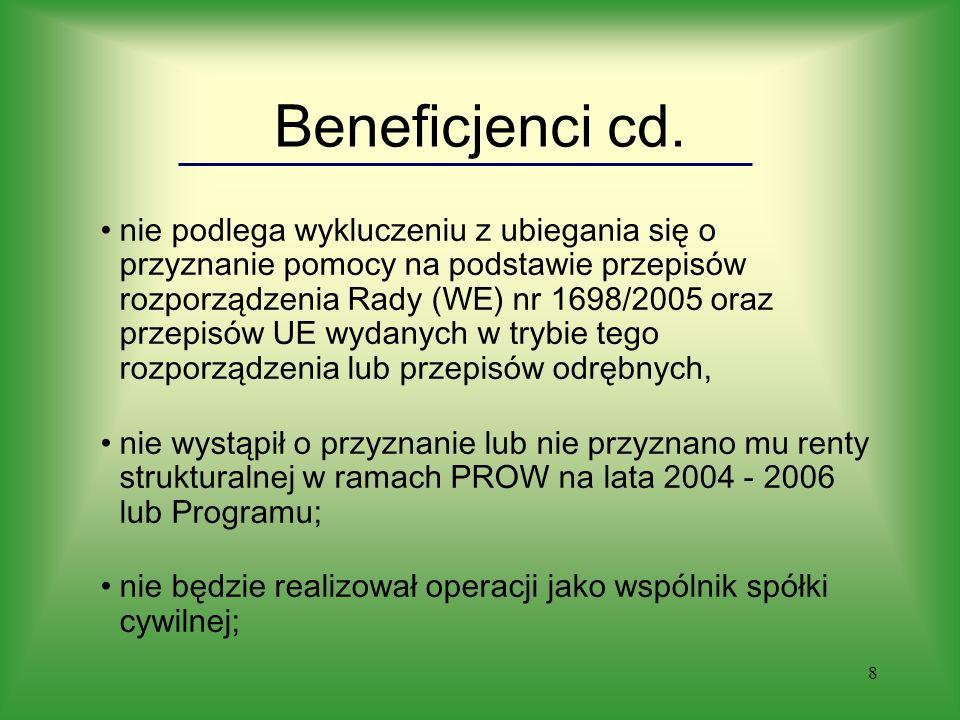8 Beneficjenci cd.