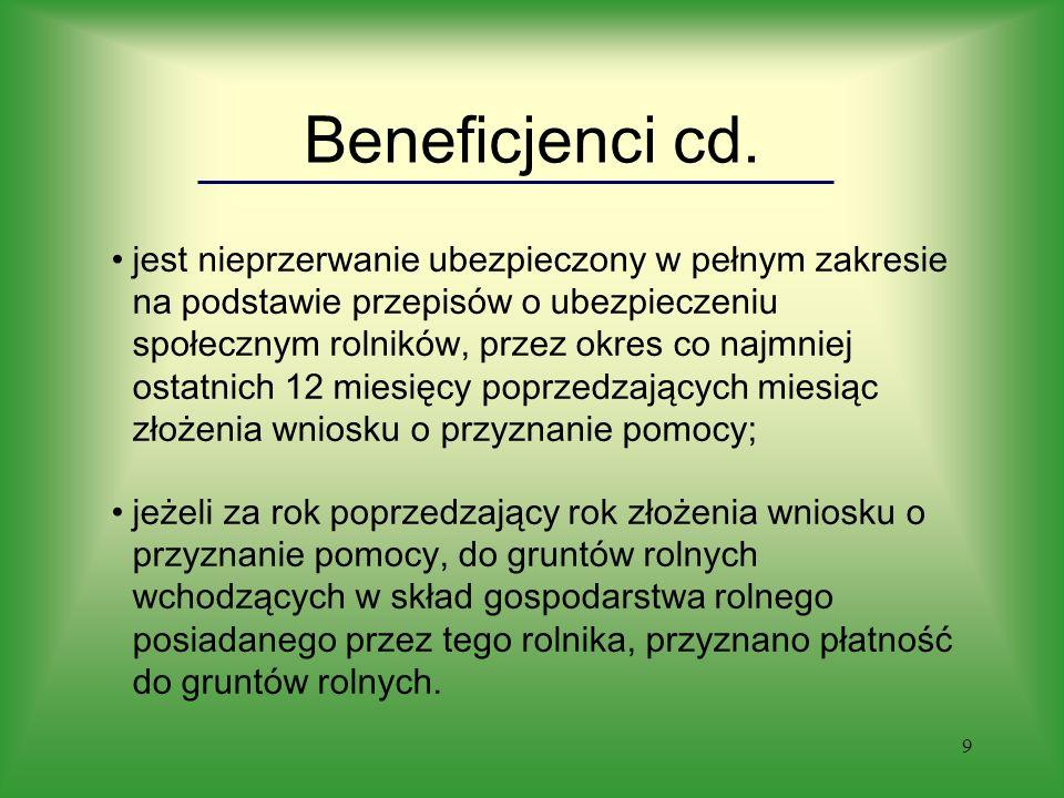 9 Beneficjenci cd.