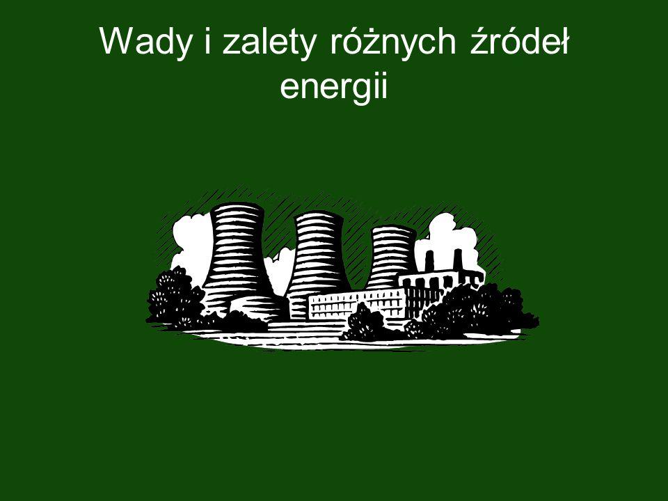 Węgiel; Ropa naftowa; Gaz ziemny ZALETY Wykorzystują szeroko dostępne źródła energii.