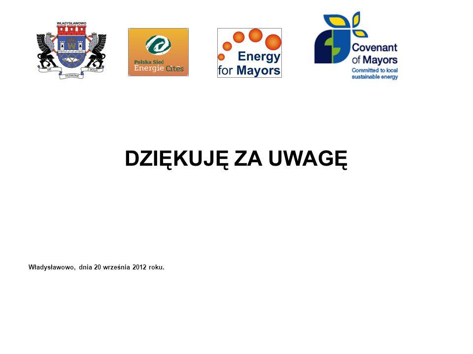 DZIĘKUJĘ ZA UWAGĘ Władysławowo, dnia 20 września 2012 roku.