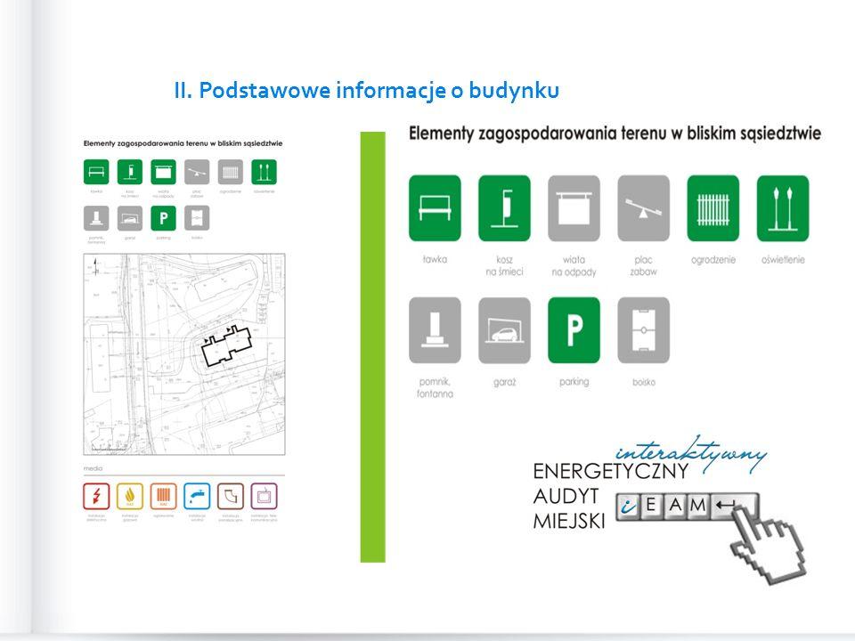 II. Podstawowe informacje o budynku