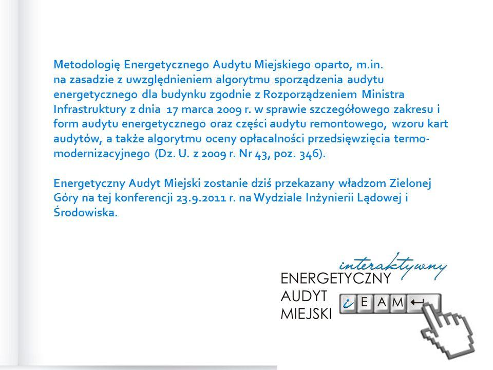 Metodologię Energetycznego Audytu Miejskiego oparto, m.in.