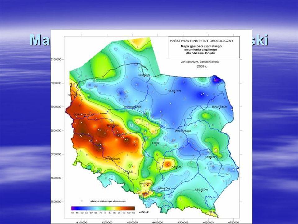 Mapa strumienia cieplnego Polski