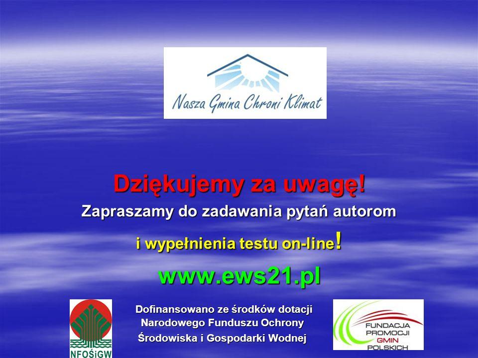 Dofinansowano ze środków dotacji Narodowego Funduszu Ochrony Środowiska i Gospodarki Wodnej Dofinansowano ze środków dotacji Narodowego Funduszu Ochro