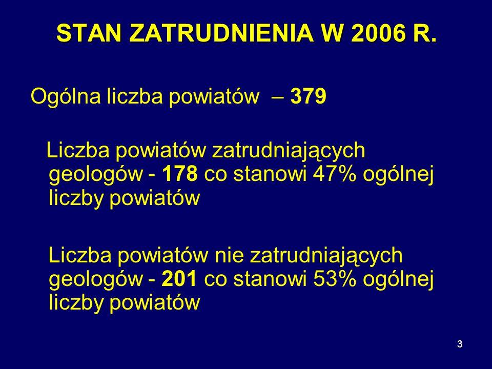 3 STAN ZATRUDNIENIA W 2006 R.