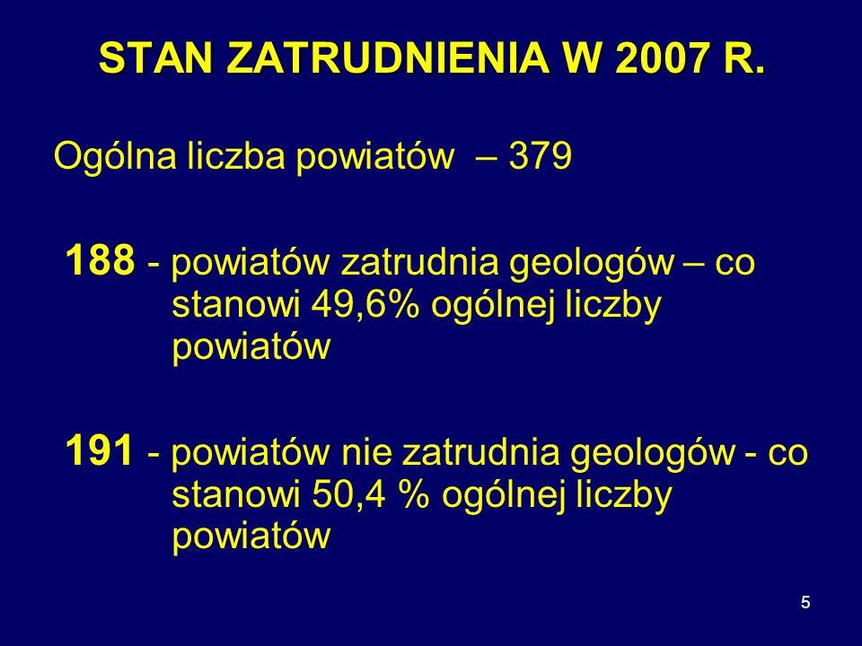 5 STAN ZATRUDNIENIA W 2007 R.