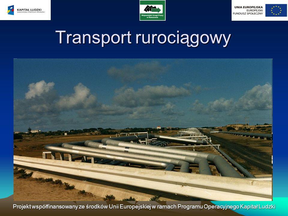 Projekt współfinansowany ze środków Unii Europejskiej w ramach Programu Operacyjnego Kapitał Ludzki Transport rurociągowy