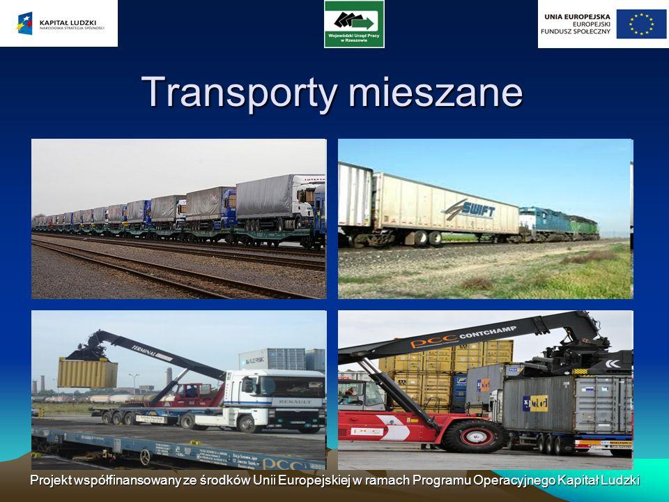 Projekt współfinansowany ze środków Unii Europejskiej w ramach Programu Operacyjnego Kapitał Ludzki Transporty mieszane