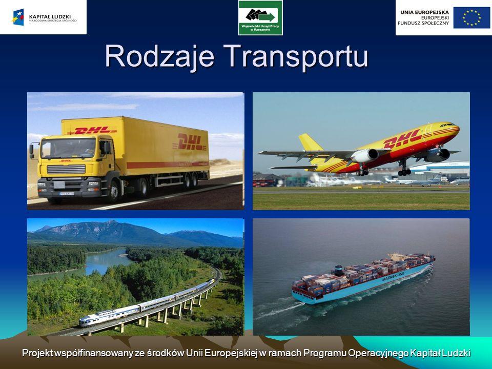 Projekt współfinansowany ze środków Unii Europejskiej w ramach Programu Operacyjnego Kapitał Ludzki Rail transport - classified as a transport mode of land transport and, more generally, surface transport.