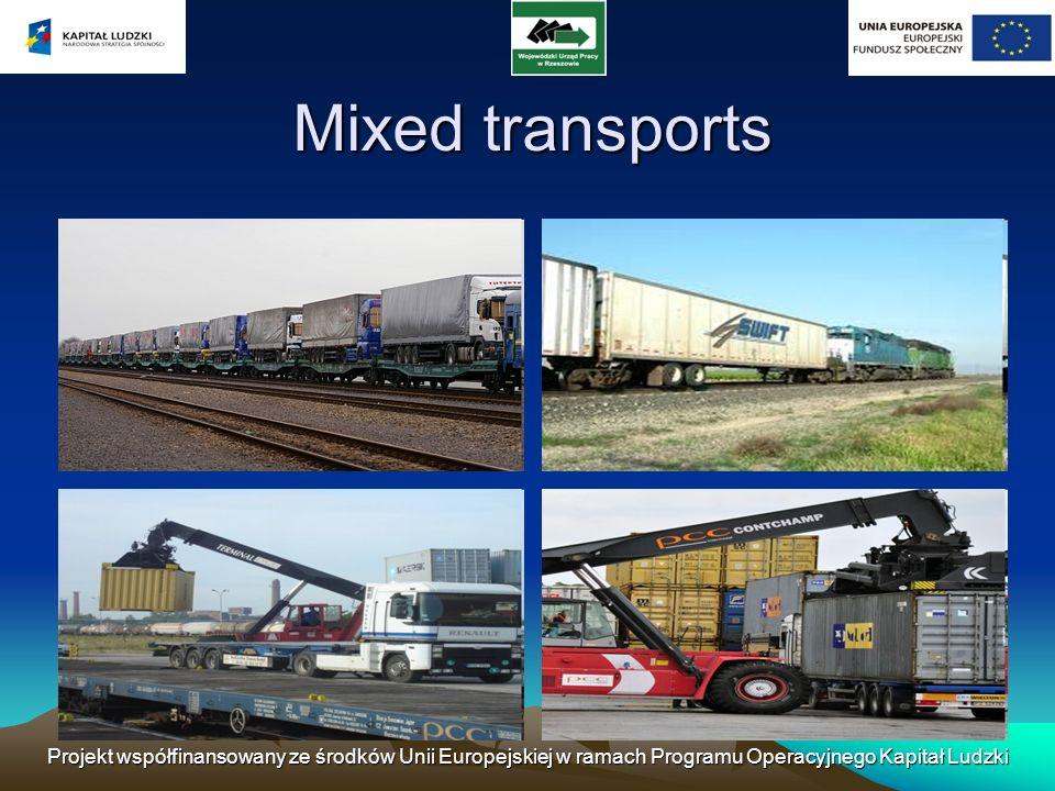 Projekt współfinansowany ze środków Unii Europejskiej w ramach Programu Operacyjnego Kapitał Ludzki Mixed transports