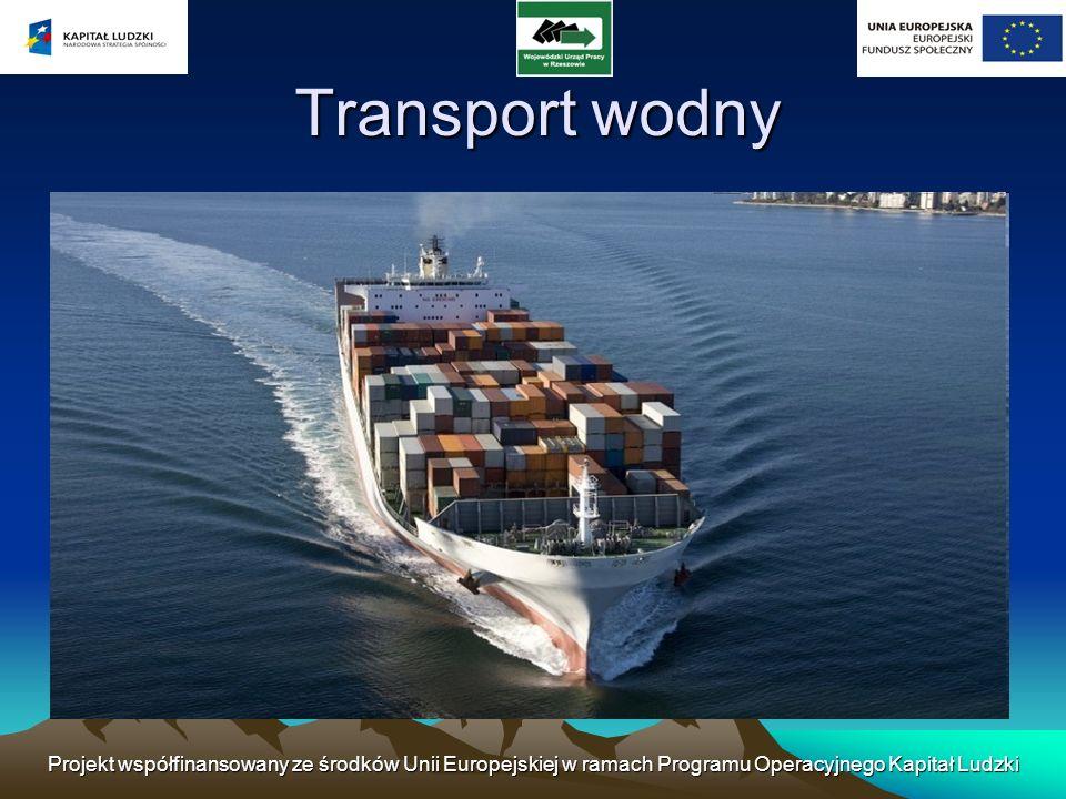Projekt współfinansowany ze środków Unii Europejskiej w ramach Programu Operacyjnego Kapitał Ludzki Transport wodny– jedna z form komunikacji.