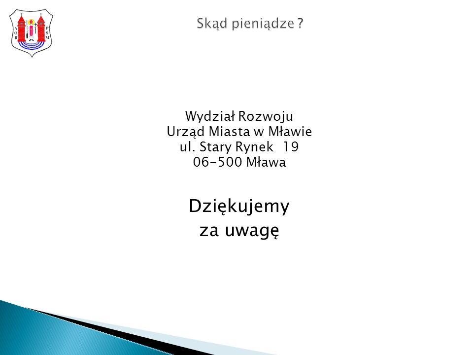 Wydział Rozwoju Urząd Miasta w Mławie ul.