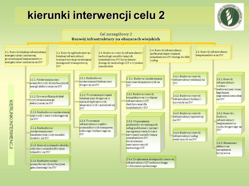 kierunki interwencji celu 2 KIERUNKI INTERWENCJI