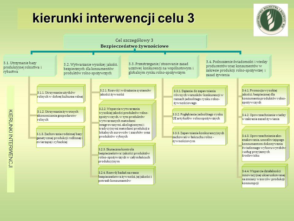 kierunki interwencji celu 3 KIERUNKI INTERWENCJI