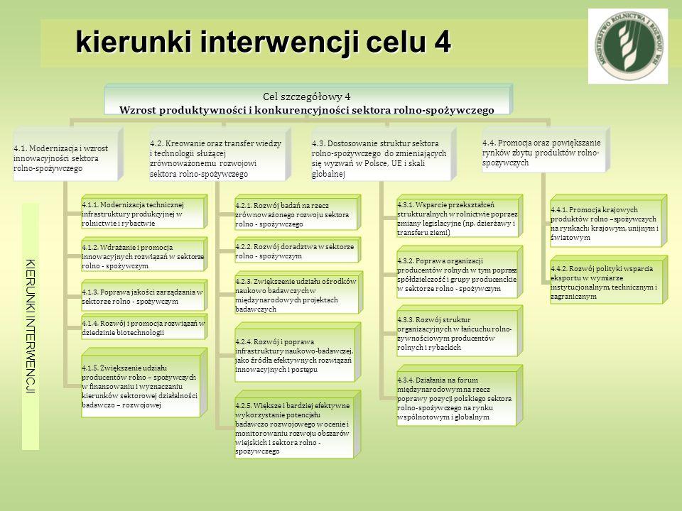 kierunki interwencji celu 4 KIERUNKI INTERWENCJI