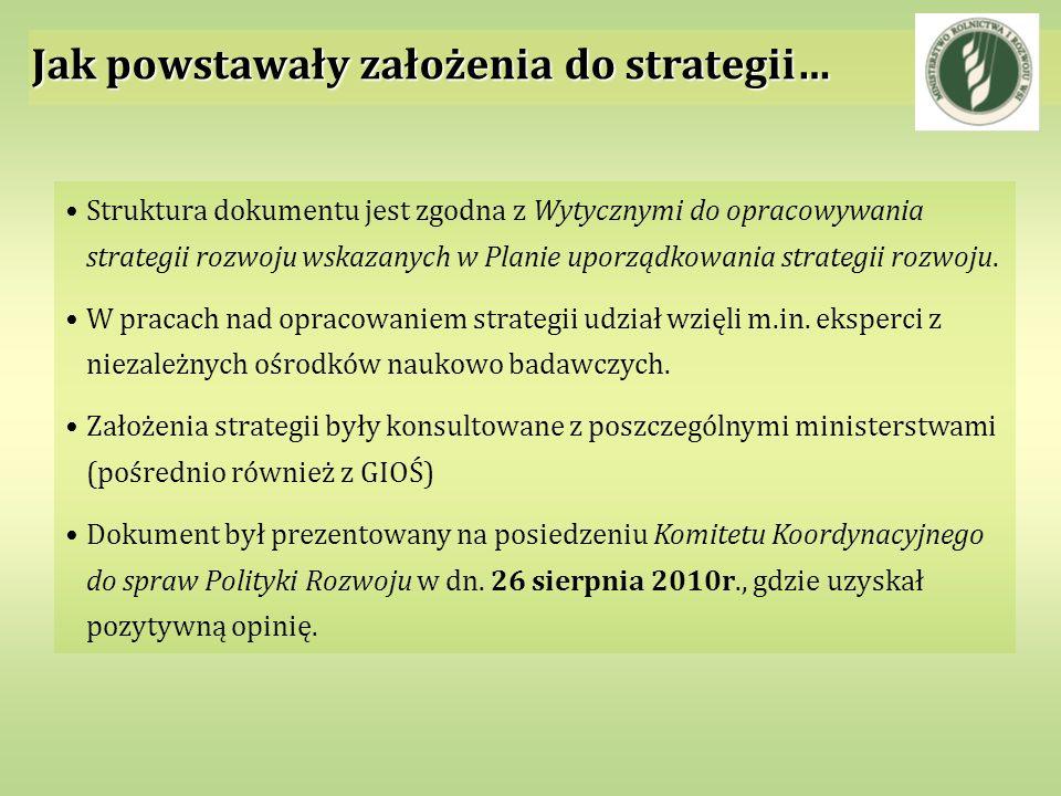 Jak powstawały założenia do strategii… Struktura dokumentu jest zgodna z Wytycznymi do opracowywania strategii rozwoju wskazanych w Planie uporządkowa