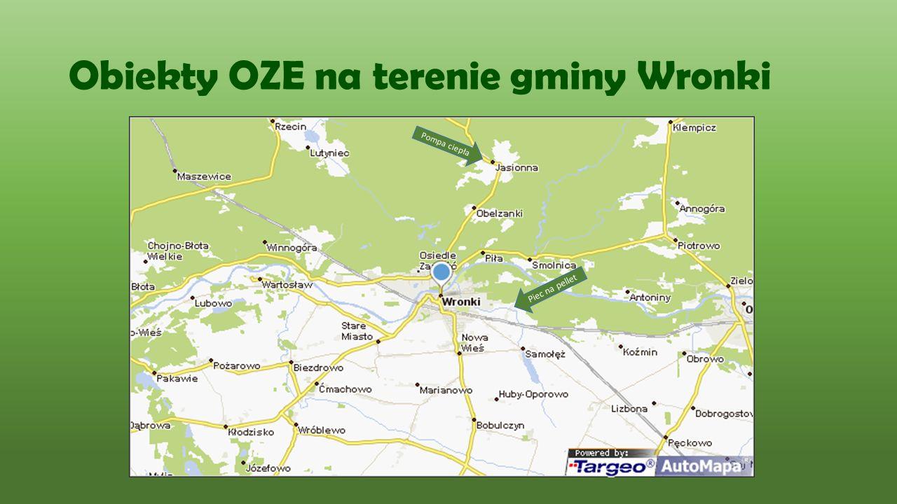 Obiekty OZE na terenie miasta Wronki Ogrzewanie gazowe z kolektorami słonecznymi Kolektory słoneczne