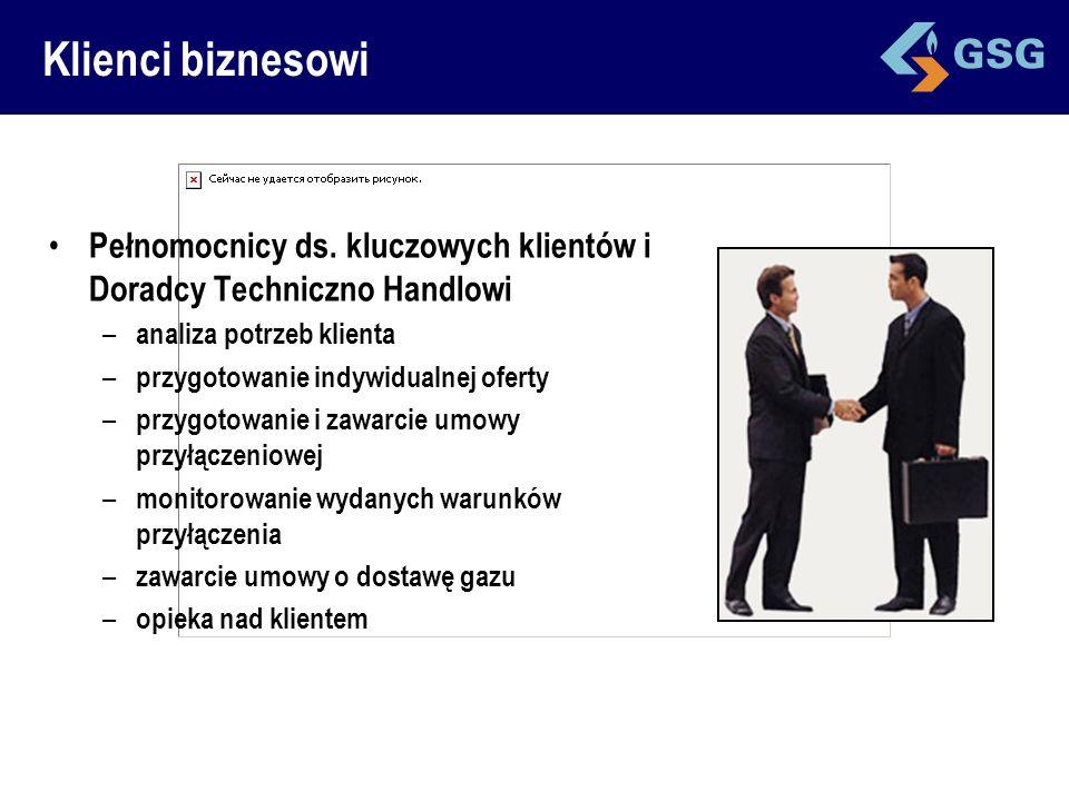 Klienci biznesowi Pełnomocnicy ds. kluczowych klientów i Doradcy Techniczno Handlowi – analiza potrzeb klienta – przygotowanie indywidualnej oferty –