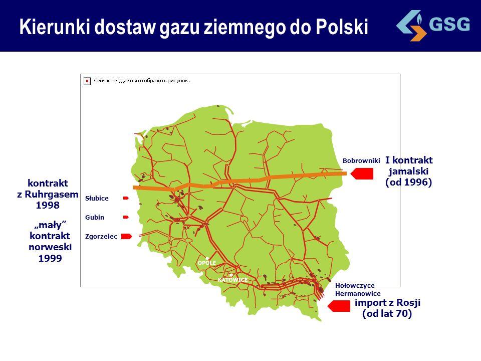 Gazoport LNG Kierunki dostaw gazu ziemnego do Polski